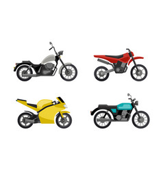 Motorcycles in flat style vector