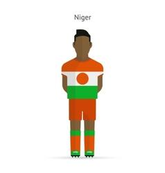 Niger football player soccer uniform vector