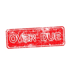 Overdue red rubber stamp over a white background vector