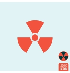 Radiation icon isolated vector image vector image