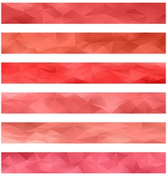 Red banner background set vector