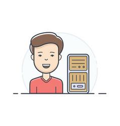 server hosting support vector image vector image