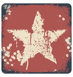 star painted on red vector image vector image
