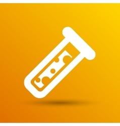 Test icon fluid symbol flask glass vector