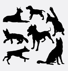 Dog pet animal silhouette 17 vector