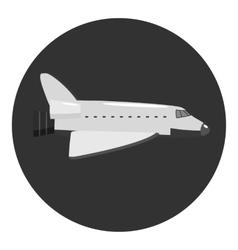 Plane icon gray monochrome style vector image