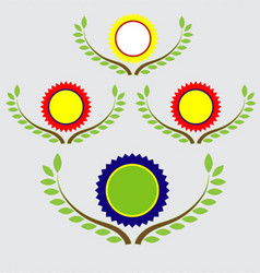 Banner and labels with leaf vector