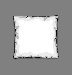 Bed pillow template isolated on gray background vector