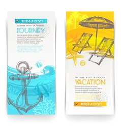 Vacation and travel vertical banners vector image