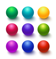 Collection of colorful glossy spheres vector