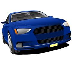al 0428 blue car vector image