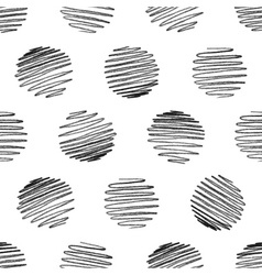 Seamless pattern of pencil strokes on white vector