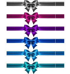 Festive polka dot bow knots with ribbons vector