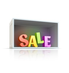 Box with sale text inside vector