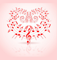Valentines day music vector