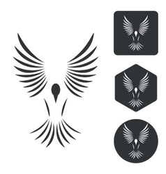 Freedom icon set monochrome vector