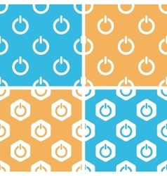 Power sign pattern set colored vector