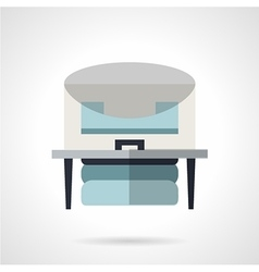 Flat color x-ray machine icon vector