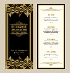 Vintage restaurant or cafe menu design template vector image