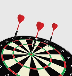 Dartboard icon vector