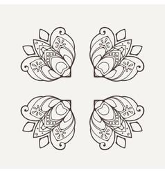 Mandala mehndi lace tattoo oriental weave vector