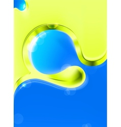 Abstract background green and blue vector image