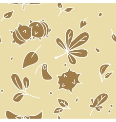 autumn pattern 2 vector image