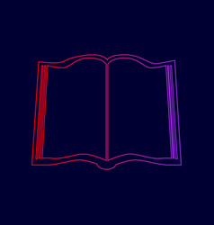 book sign line icon with gradient from vector image vector image