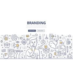 Branding Doodle Concept vector image vector image
