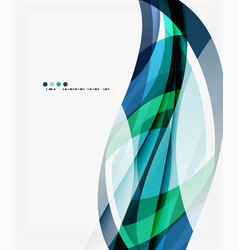 business wave corporate template vector image vector image