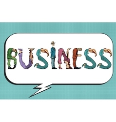 Business word letters people vector