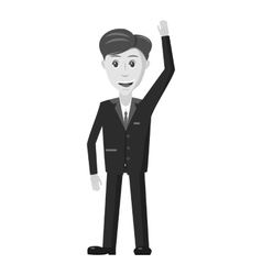 Businessman icon gray monochrome style vector image