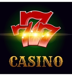 Casino poster with lucky number vector