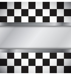 Checkered flag with frame vector image vector image