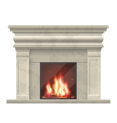 classic fireplace for living room interior vector image vector image