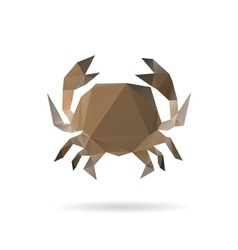 Crab abstract isolated on a white backgrounds vector