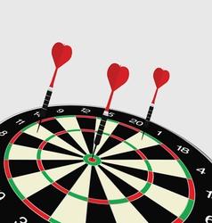 Dartboard icon vector