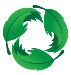 Eco friendly leaf logo vector