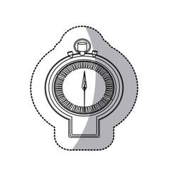 Figure sticker watch icon vector