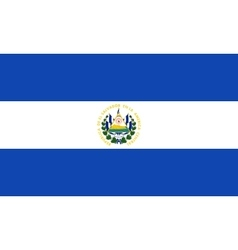 Flag of el salvador in correct size colors vector