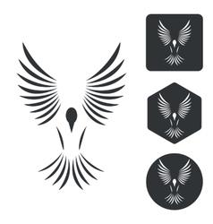 Freedom icon set monochrome vector