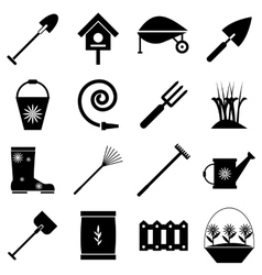 Gardener tools icons set simple style vector