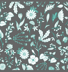Gentle flower seamless pattern vector