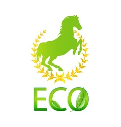 glass eco symbol green color isolated vector image