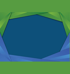 green and blue triangle frame border vector image vector image