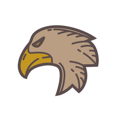 head of eagle bird vector image
