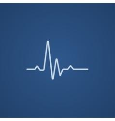 Hheart beat cardiogram line icon vector