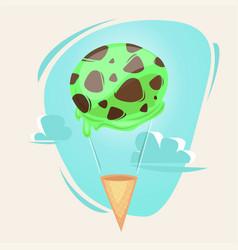 Ice cream as balloon concept vector