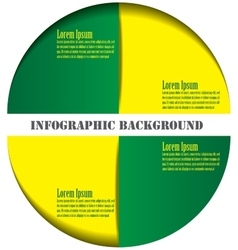 Infographics design element vector image vector image