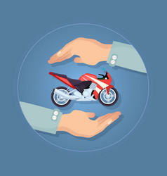 modern motorbike insurance service company logo vector image vector image